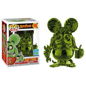 Icons Pop! Vinyl Figure Rat Fink (Green Chrome) (2019 Summer Exclusive) [15]