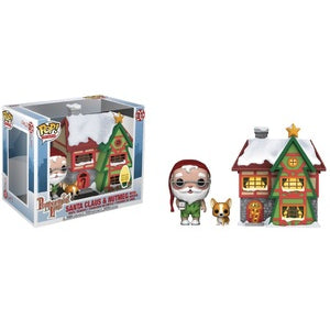 Peppermint Lane Pop! Vinyl Figure Santa Claus and Nutmeg with House [01]