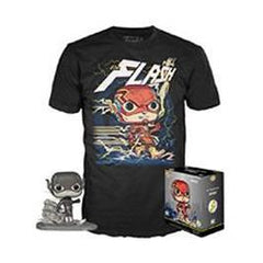 DC Pop! Tees The Flash (Jim Lee Deluxe) (Black & White) and Flash Tee - XSmall - Fugitive Toys