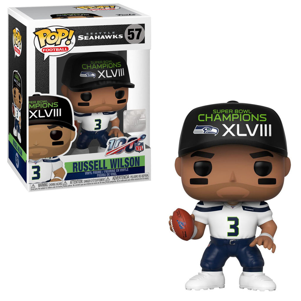 NFL Pop! Vinyl Figure Russell Wilson (Super Bowl XLVIII) [Seattle Seahawks] [57] - Fugitive Toys
