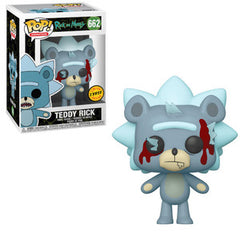 Rick and Morty Pop! Vinyl Figure Teddy Rick (Bloody) (Chase) [662] - Fugitive Toys