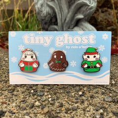 Bimtoy Tiny Ghost Pins [Xmas Series 2] - Fugitive Toys