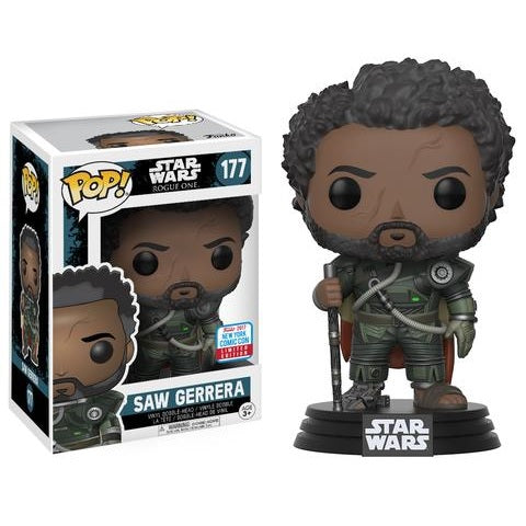 Star Wars Pop! Vinyl Saw Gerrera w/ Hair [Rogue One] [NYCC 2017 Exclusive] [177]