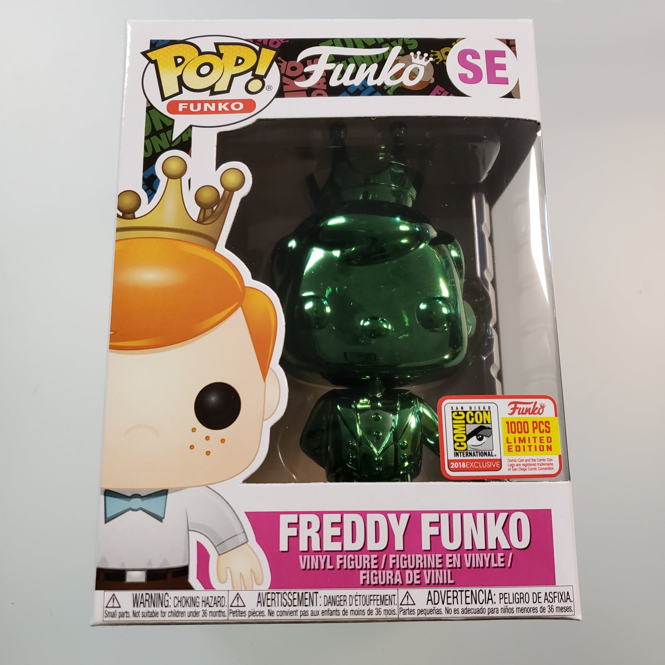 Freddy Funko Pop! Vinyl Figure Emerald Green Chrome (LE1000) [SE] - Fugitive Toys