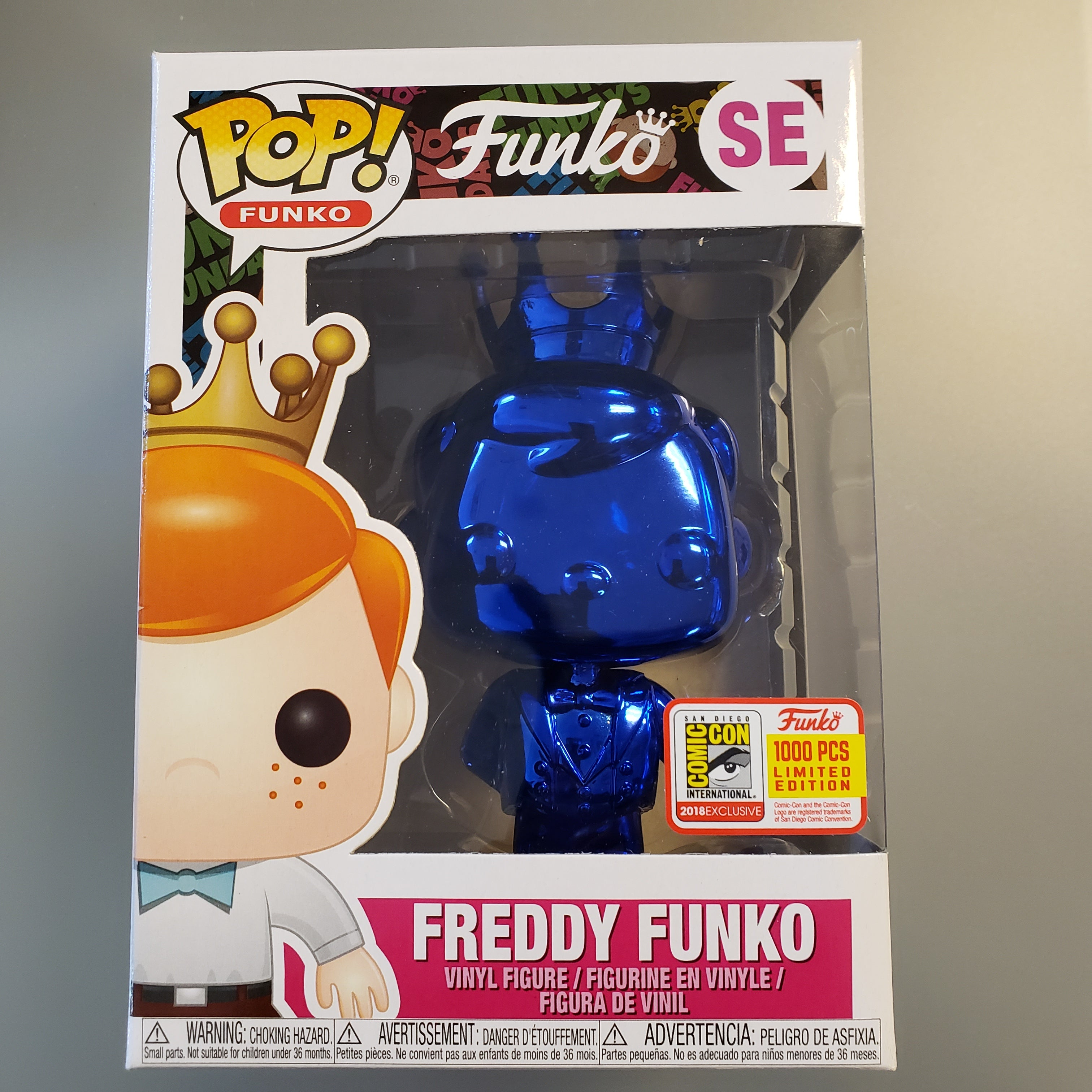 Freddy Funko Pop! Vinyl Figure Emerald Blue Chrome (LE1000) [SE] - Fugitive Toys