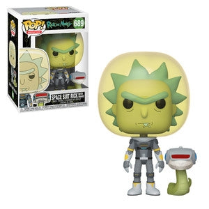Rick and Morty Pop! Vinyl Figure Space Suit Rick with Snake [689] - Fugitive Toys
