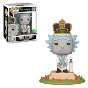 "Rick and Morty Pop! Vinyl Figure King of S#!+ 6"" (With Sound) [694] - Fugitive Toys"