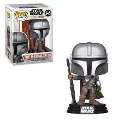 Star Wars The Mandalorian Pop! Vinyl Figure The Mandalorian (Gun to the Side) [345] - Fugitive Toys
