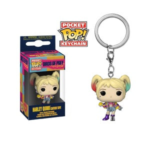 Birds of Prey Pocket Pop! Keychain Harley Quinn (Caution Tape)