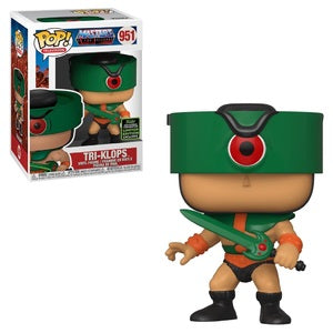 Masters of the Universe Pop! Vinyl Figure Tri-Klops [ECCC Shared Sticker] [951] - Fugitive Toys