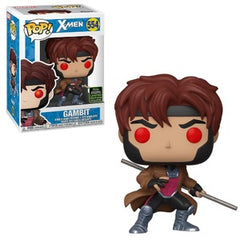 Marvel Pop! Vinyl Figure Gambit with Bo Staff (X-Men) [ECCC Shared Sticker] [554] - Fugitive Toys