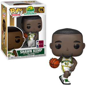 NBA Legends Pop! Vinyl Figure Shawn Kemp (Sonics Home Jersey) [Seattle Supersonics] [79] - Fugitive Toys
