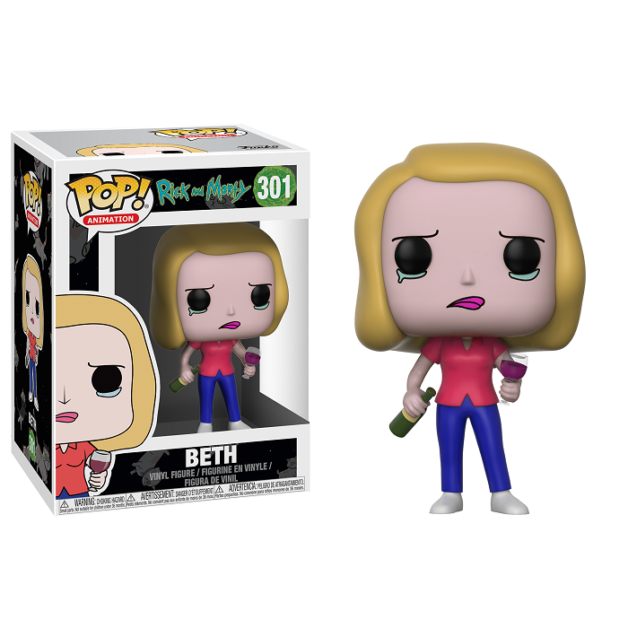 Rick and Morty Pop! Vinyl Figure Beth with Wine Glass [301]