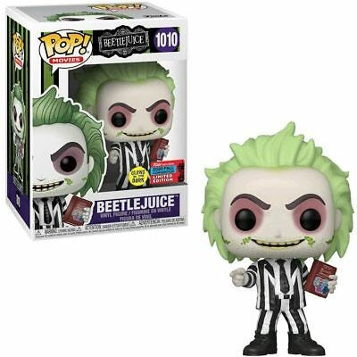Beetlejuice Pop! Vinyl Figure Beetlejuice with Handbook Glow (2020 Fall Convention) [1010]