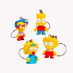 Kidrobot The Simpsons Keychains Series: (1 Blind Box) - Fugitive Toys