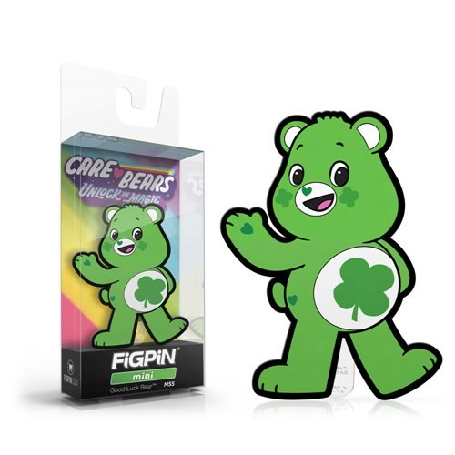 Care Bears Unlock the Magic: FiGPiN Mini Enamel Pin Good Luck Bear [M55]