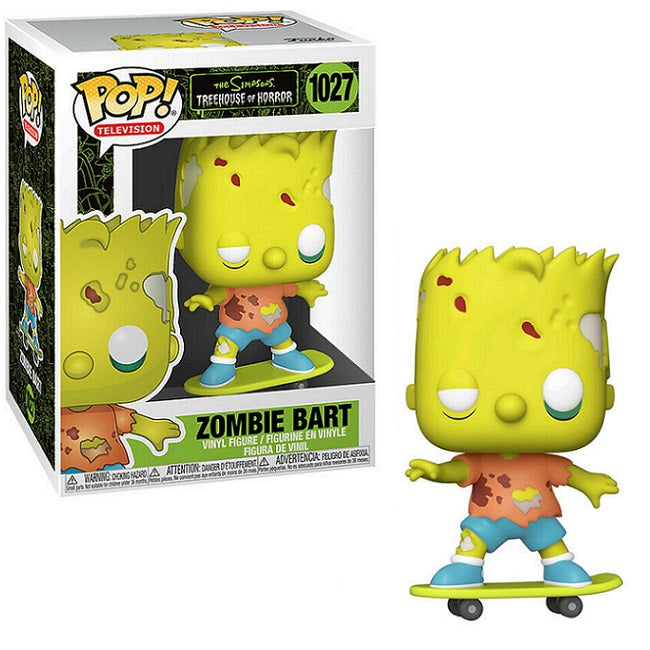 The Simpsons Treehouse of Horror Pop! Vinyl Figure Zombie Bart [1027]