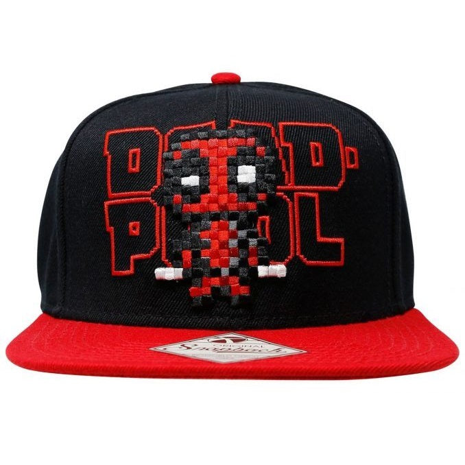 Bioworld Marvel Deadpool Pixelated 8 Bit Snapback Cap