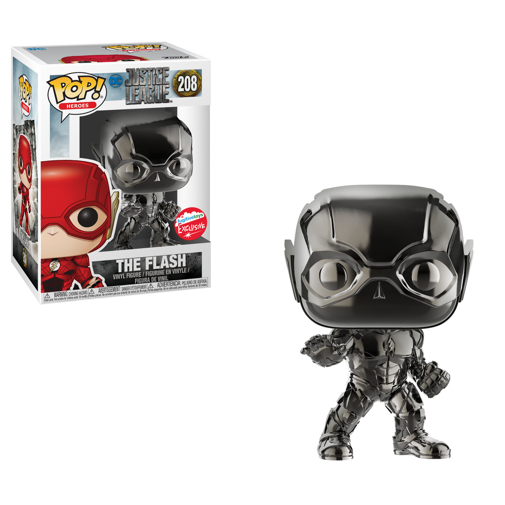 Justice League Pop! Vinyl Hematite Black Chrome Flash [Fugitive Toys Exclusive] [208]