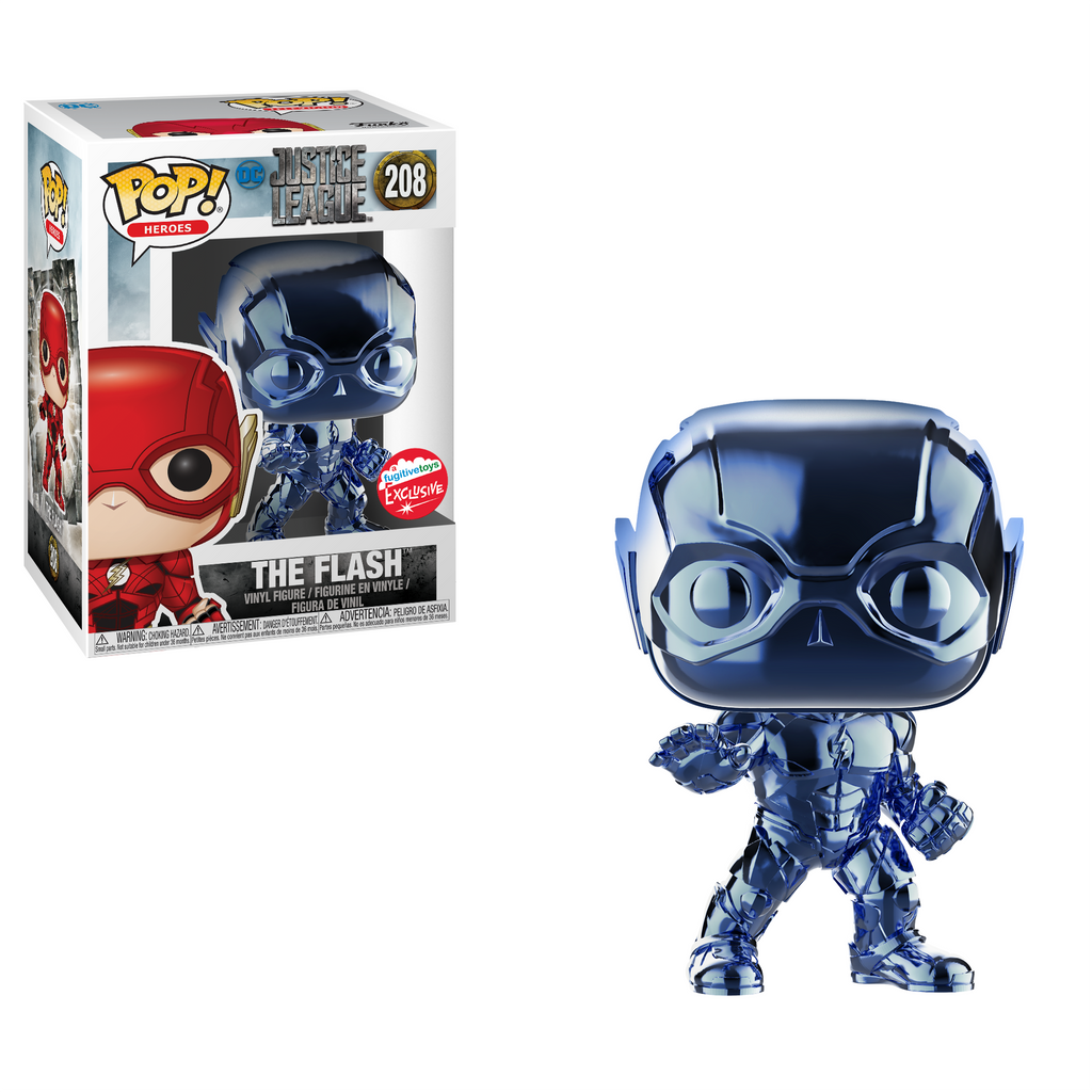 Justice League Pop! Vinyl Light Blue Chrome Flash  [Fugitive Toys Exclusive] [208]