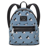 Loungefly x Disney Parks Denim Mickey Mouse Mini Backpack - Fugitive Toys