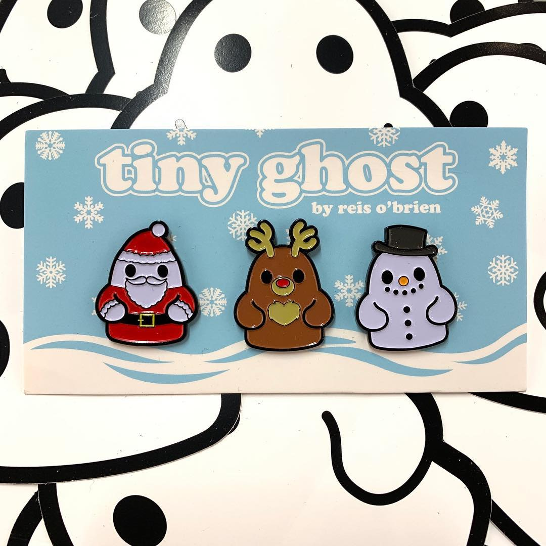 Bimtoy Tiny Ghost Pins [Christmas 3 Pack]