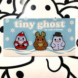 Bimtoy Tiny Ghost Pins [Christmas 3 Pack] - Fugitive Toys
