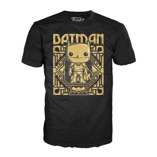 DC Pop! Tees Gold Chrome Batman Extra Large (XL)