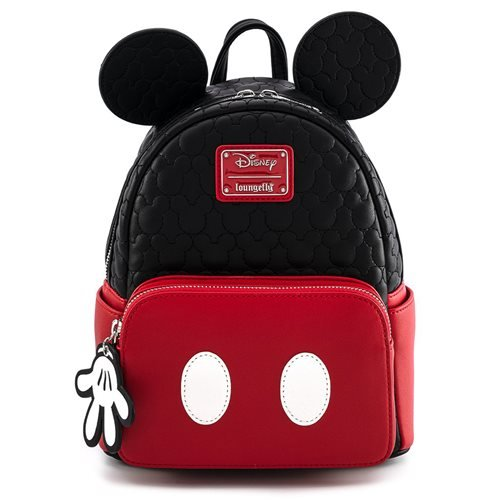 Loungefly x Disney Mickey Mouse Oh Boy! Quilted Mini Backpack