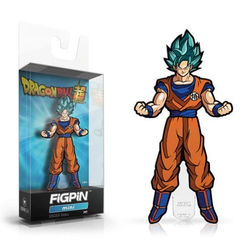 Dragon Ball Z: FiGPiN Mini Enamel Pin Super Saiyan God Super Saiyan Goku [M1]