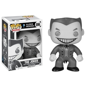 DC Super Heroes Pop! Vinyl Figures Black and White The Joker [6] - Fugitive Toys