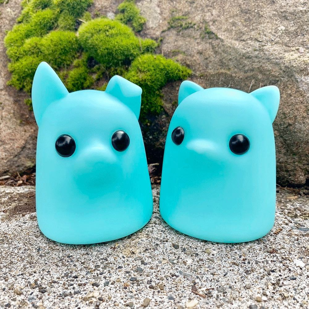 Bimtoy Tiny Ghost Blue GLOW Puppy & Kitty
