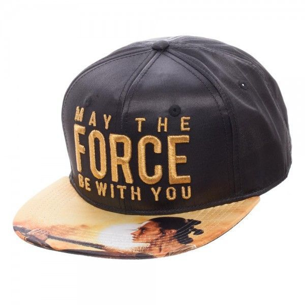 Bioworld Star Wars May The Force Be With You Satin Snapback Cap