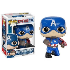 Captain America: Civil War Pop! Vinyl Figures Action Pose Captain America [137] - Fugitive Toys