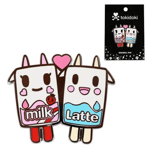 Tokidoki Strawberry Milk & Latte Moofia Enamel Pin