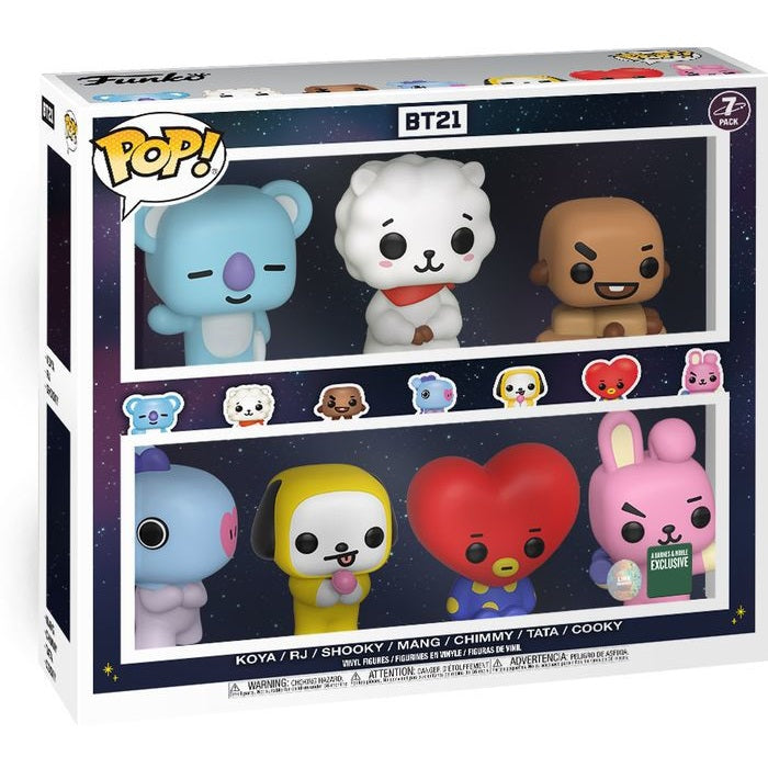 BTS Rocks Pop! Vinyl Figure BT21 (Barnes & Noble Exclusive) 7 Pack
