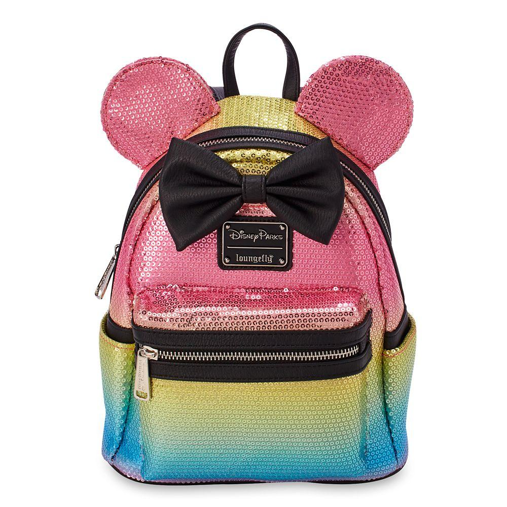Loungefly x Disney Parks Minnie Mouse Rainbow Sequined Mini Backpack
