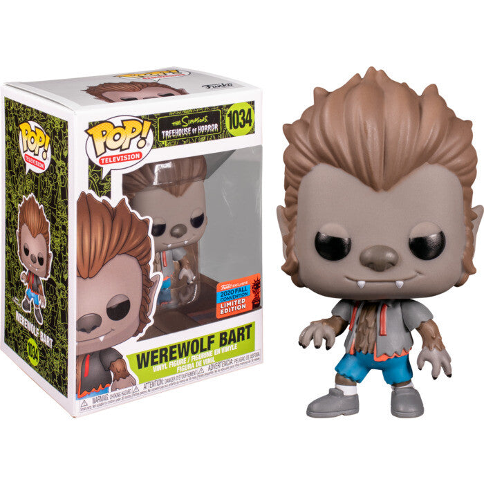 The Simpsons Treehouse of Horror Pop! Vinyl Figure Werewolf Bart (2020 Fall Convention) [1034]