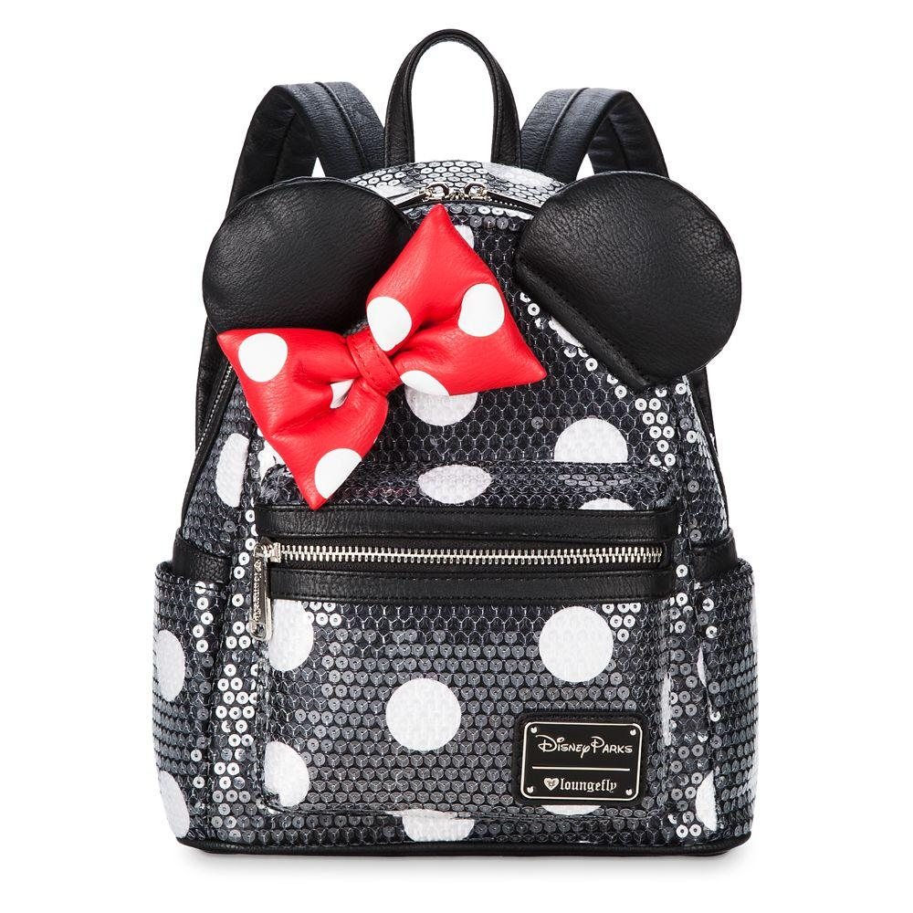 Loungefly x Disney Parks Minnie Mouse Sequined Mini Backpack