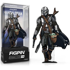 Star Wars The Mandalorian: FiGPiN Enamel Pin The Mandalorian with The Child [736] - Fugitive Toys