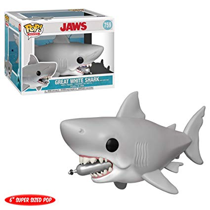 Jaws Pop! Vinyl Figure Great White Shark with Diving Tank [6-Inch] [759]