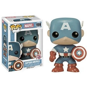 Marvel Pop! Vinyl Figure Captain America (Light Blue) [159] - Fugitive Toys