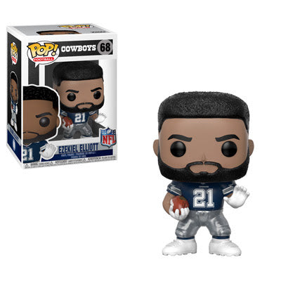 NFL Pop! Vinyl Figure Ezekiel Elliott (Away) [Dallas Cowboys] [68] - Fugitive Toys
