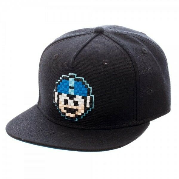Bioworld Mega Man 8 Bit Pixelated Snapback Cap