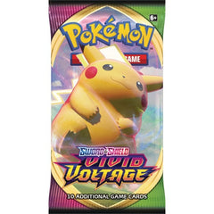Pokemon Trading Card Game Sword & Shield Vivid Voltage Booster Pack - Fugitive Toys