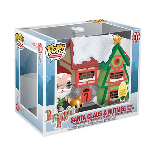 Town Pop! Vinyl Figure Santa Claus & Nutmeg with House [01]