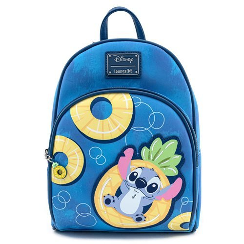 Loungefly x Disney Lilo & Stitch Pineapple Floaty Stitch and Scrump Mini Backpack