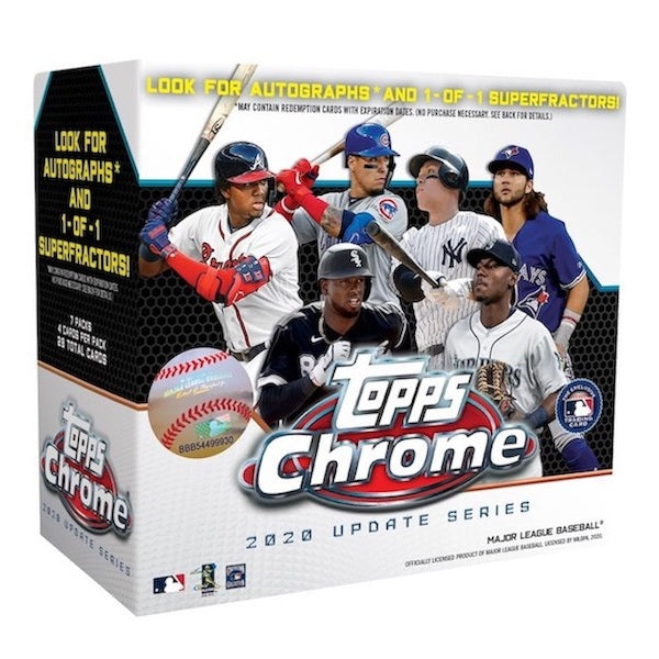 2020 Topps MLB Baseball Chrome Update Series Mega Box
