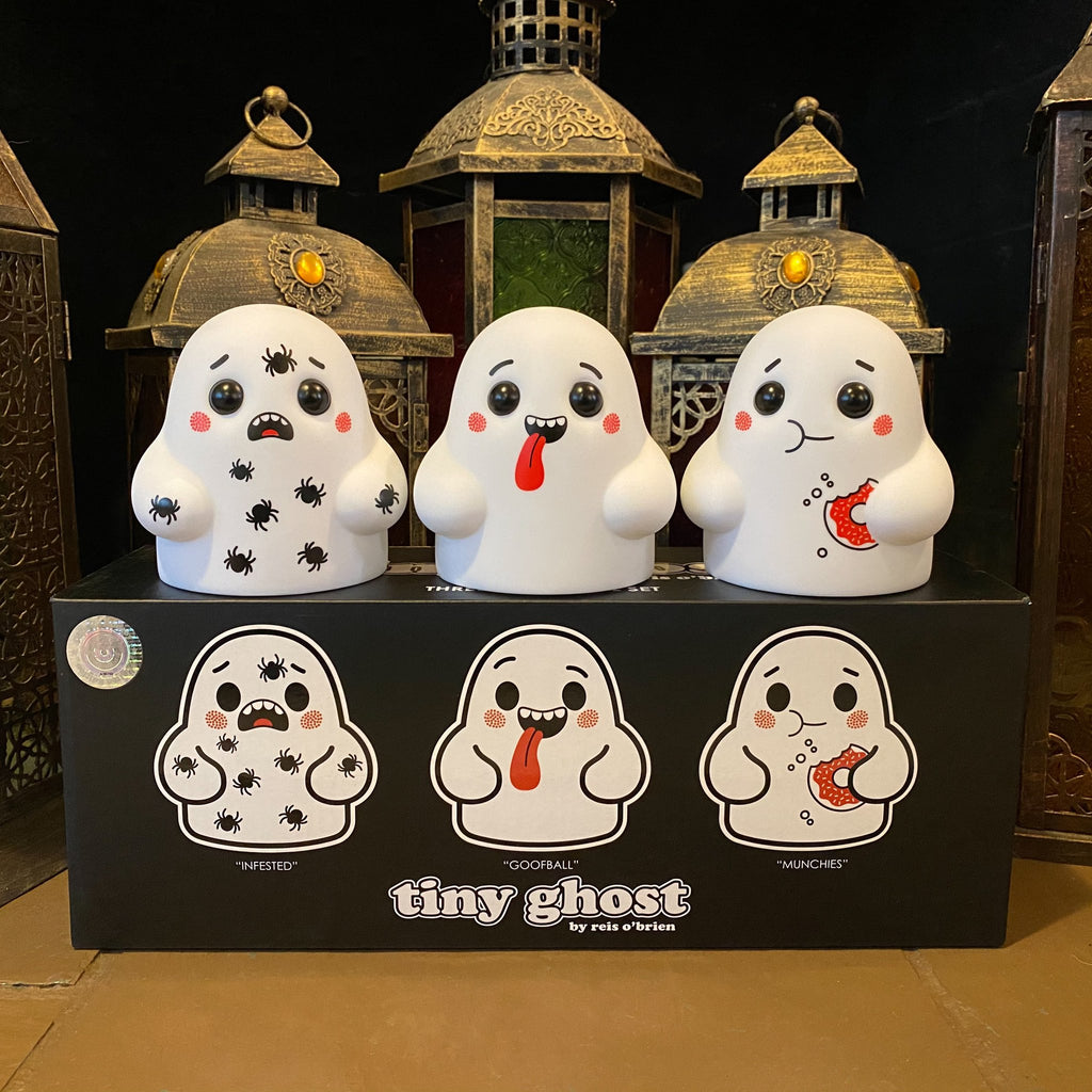 Bimtoy Tiny Ghost 3 Inch Vinyl Figures Doodles [3 Pack]