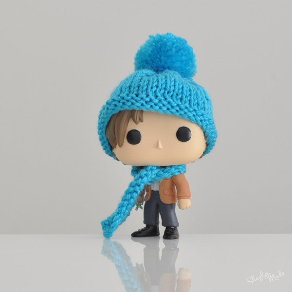 Pop! Apparel Knitted Beanie & Scarf Set [Blue]